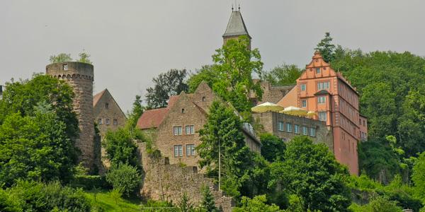 Burg Hirschhorn, a castle hotel in Hirschhorn, Germany
