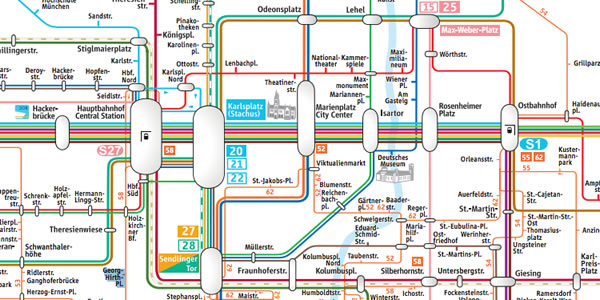 Munich Subway Map.Munich Subways And Light Rail U Bahn And S Bahn