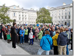 A tour of Trinity College with a student