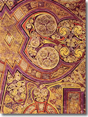 A detail from the famous Chi Rho page of the Book of Kells ()