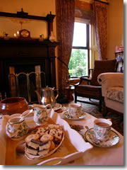 Most B&Bs will offer you a welcoming cup of tea. What they mean is a pot of Irish tea served in china cups along with a basket of bread, scones, pasteries, and cakes, often to be enjoyed in an elegant sitting room like the one pictured here in the nineteenth century farmhouse of Killennan House just before I devoured it. This would be a good reason to make sure you arrive at your B&B well before dinner, say around 4:30ish, so you can truly enjoy a traditional afternoon tea