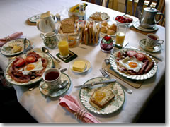 I pity the poor soul who goes to Ireland and tries to keep on his diet. Breakfast spreads like this one, at Killennan House outside Derry in Northern Irealnd, pretty much assure you won't be hungry again until dinnertim