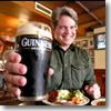 O'Flaherty's, a corner carvery in the Co. Meath town fo Navan, serves up heaping platters of roasted carved meats for $9—and the Guinness with which to wash it down