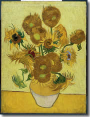 Van Gogh's Sunflowers, at the van Gogh Museum of Amsterdam