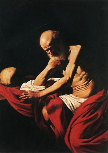 Sant Jeroni by Caravaggio in the Montserrat Museum