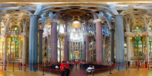 Sagrada familia barcelona for La sagrada familia interior