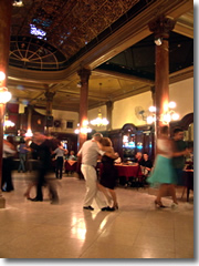 Tango lessons at the Confiteria Ideal in Buenos Aires