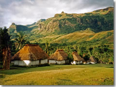 Fijian village of Navala in the Nausori Highlands