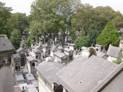 Père Lachaise cemetery covers 108 rolling acres of woodlands and tombstones in Paris' 20eme.