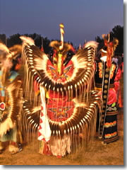 Oglala Sioux men dressed to the feathery nines for their ceremonial dances at the 2006 Oglala Lakota Nation Gathering on the Pine Ridge Indian Reservation, South Dakota