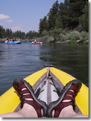 Kayaking the Blackfoot River in Montana.