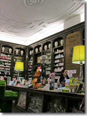 A farmacia in Bologna, Italy