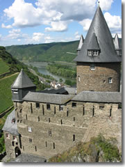 Burg Stahlek, a castle on the Rhine River in Germany, is actually now a hostel, with beds for under $20