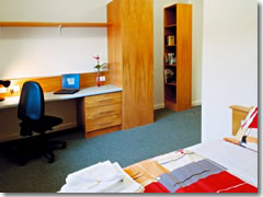 A dorm room at Dublin City Univeristy