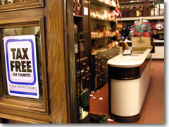 "Look for the ""Tax Free Shopping for Tourists"" sign in stores and the process of getting the VAT tax refunded will be much simpler and smoother."