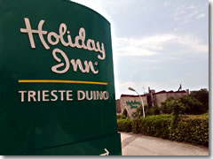 A Holiday Inn outside Trieste, Italy